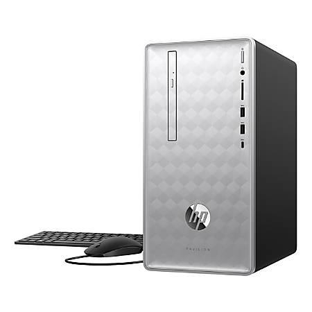 HP Pavilion 590-p0076 Desktop PC, AMD Ryzen™ 5, 8GB Memory, 1TB Hard Drive,  Windows® 10 Home Item # 5114622