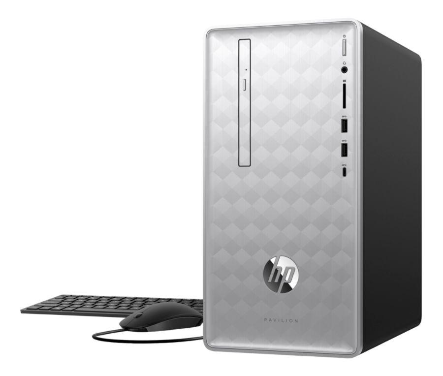 HP Pavilion 590-p0076 Desktop with AMD Quad Core Ryzen 5 2500U / 8GB / 1TB / Win 10
