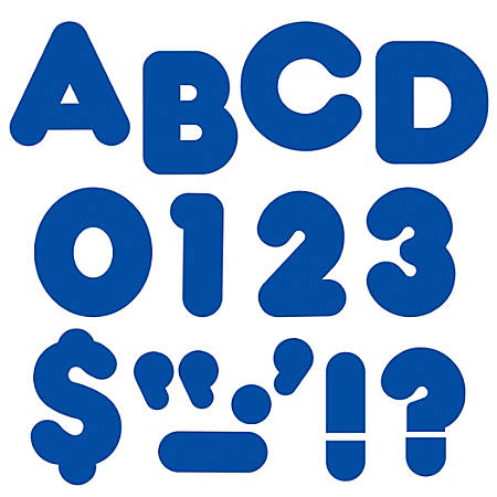 "TREND Ready Letters®, Casual, 3"", Royal Blue, Pre-K - Grade 12, Pack Of 124"