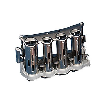 """Advantus 4-Barrel Money Changer, 4 1/2""""H x 3 5/16""""W x 7 5/16""""D, Silver"""