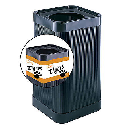 Safco® Plastic At-Your-Disposal™ Waste Receptacle, Black