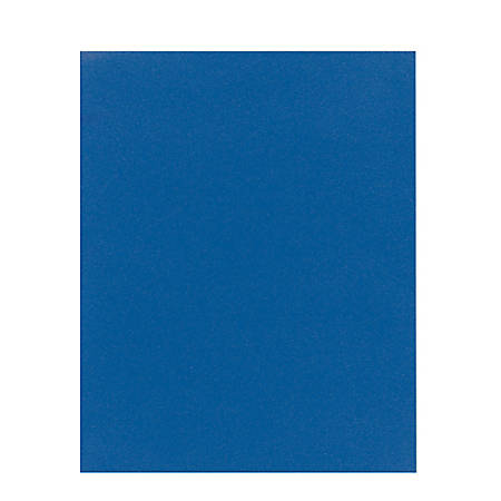 Office Depot® Brand School-Grade 2-Pocket Paper Folder, Letter Size, Blue