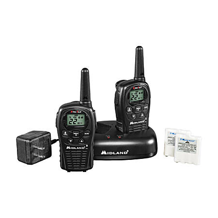 Midland LXT500VP3 Two-way Radio - 22 Radio Channels - 22 x GMRS/FRS - Upto 126720 ft - Auto Squelch, Keypad Lock, Silent Operation - Water Resistant
