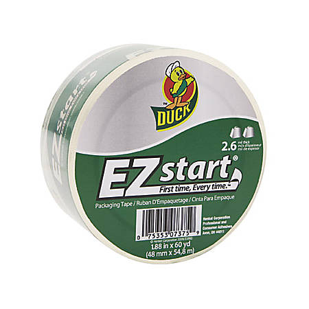 "Duck® EZ Start® Packaging Tape, 1 7/8"" x 60 Yd."