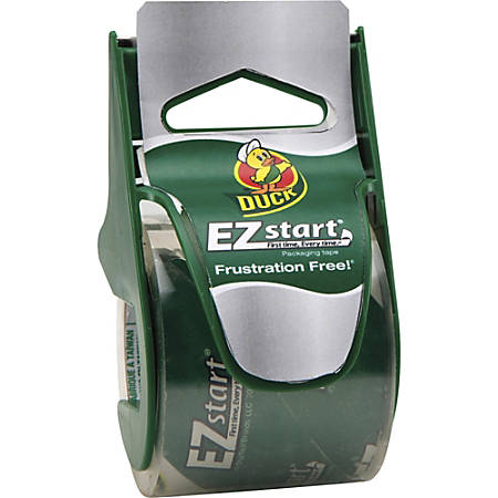 """Duck Brand EZ Start Carton Packaging Tape with Disp. - 1.88"""" Width x 22.2 Yd. Length - 2.60 mil - Dispenser Included - 1 / Roll - Clear"""