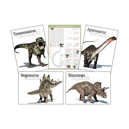 "Barker Creek® Dinosaur Poster Set, 17 1/2""H x 24""W, Grades Pre-K–College"
