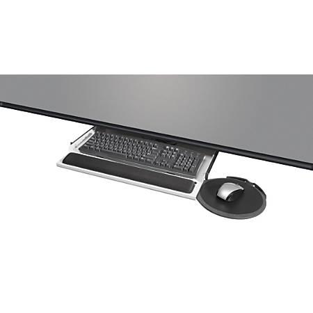 KellyREST™ Underdesk Keyboard/Mouse Platform, Gray/Black