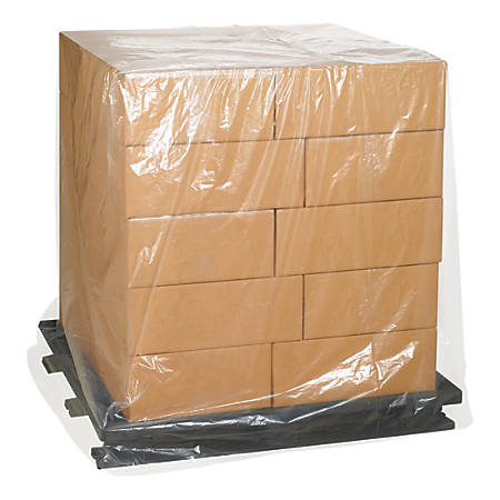 "Office Depot Brand 3 Mil Clear Pallet Covers 52"" x 44"" x 90"", Box of 50"