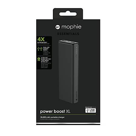 mophie Boost Powerbank, XL, 10,400 mAh, Black, 4059
