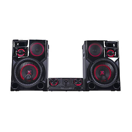 "LG CJ98 Bluetooth® CD/MP3 Hi-Fi Entertainment System With AM/FM Radio, 35.3""H x 20.3""W x 28.3""D, Black"