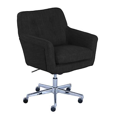 Serta Ashland Mid-Back Office Chair, Charcoal/Chrome