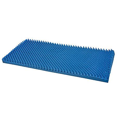 "DMI® Convoluted Foam Bed Pad Mattress Topper, Hospital Size, 33""H x 76""W x 4""D, Blue"