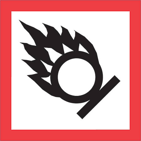 "Tape Logic® Pictogram Labels, DL4246, Flame Over Circle, Square, 2"" x 2"", Red/White/Black, Roll Of 500"