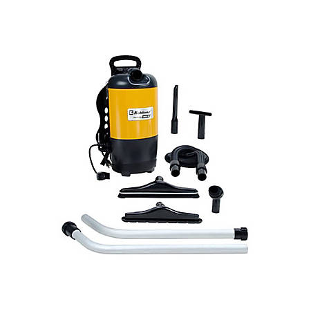 """Koblenz BP-1400 Backpack Vacuum Cleaner - 1400 W Motor - 1.50 gal - Bagged - 50 ft Cable Length - 60"""" Hose Length - 897.7 gal/min - 11.50 A - 71 dB(A) Noise Level"""