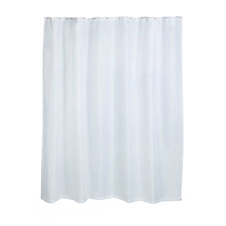 "Honey-Can-Do Fabric Shower Curtain Liner, 72"" x 70"", White"