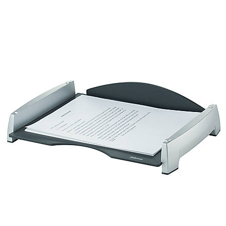 """Fellowes® Office Suites Letter Tray, 2 1/2""""H x 14 13/16""""W x 10 5/16""""D, Black/Silver"""