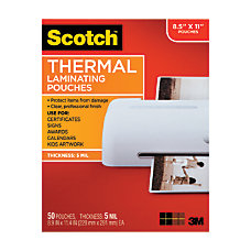 Scotch Thermal Laminating Pouches 8 1516