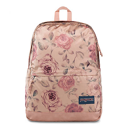 "JanSport® New Stakes Backpack With 13"" Laptop Pocket, Rose Smoke Garden"