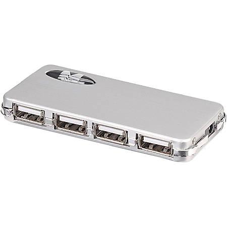 Manhattan 4-Port Hi-Speed USB 2.0 Micro Hub, AC Power - Plug and Play - Windows and Mac compatible