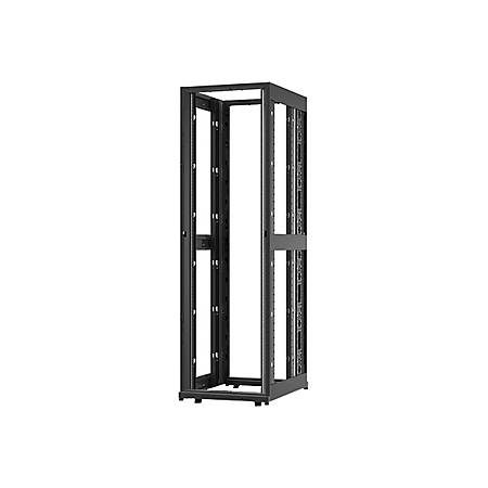 "Schneider Electric NetShelter SX Rack Cabinet - 42U Rack Height x 19"" Rack Width - Floor Standing - Black - 2254.73 lb Dynamic/Rolling Weight Capacity - 3006.31 lb Static/Stationary Weight Capacity"