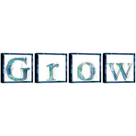 "PTM Images Framed Art, Grow, 16""H x 16""W, Set Of 4"