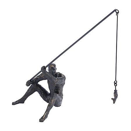 "Zuo Modern Fisherman Figurine, 15 3/4""H x 16 1/8""W x 7 1/2""D, Black"
