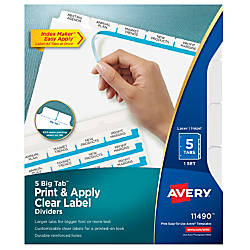 Avery Index Maker 30percent Recycled Big