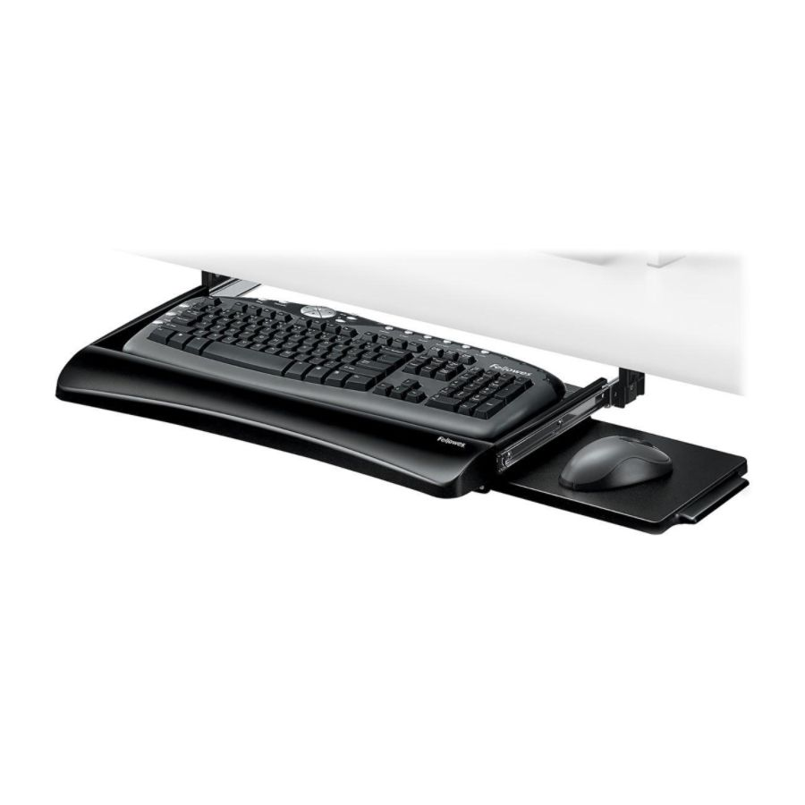 Fellowes Office Suites Underdesk Keyboard Tray BlackSilver By Office Depot  U0026 OfficeMax