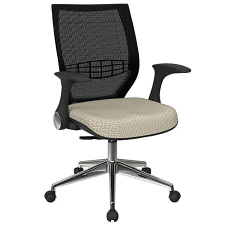 Office Star™ Pro-Line II ProGrid Fabric High-Back Chair, Sandstone/Black/Silver