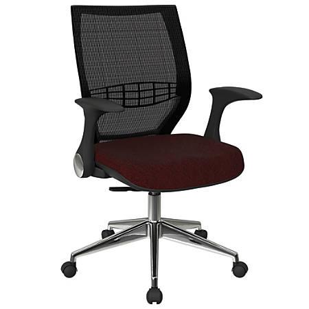 Office Star™ Pro-Line II ProGrid Fabric High-Back Chair, Merlot/Black/Silver