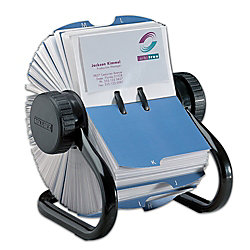 Rolodex open rotary business card file 600 card capacity black by rolodex open rotary business card file 600 card capacity black colourmoves