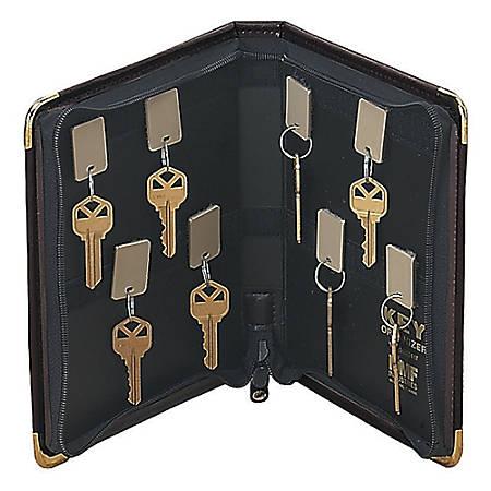 STEELMASTER® Portable Zippered 24-Key Case, Burgundy