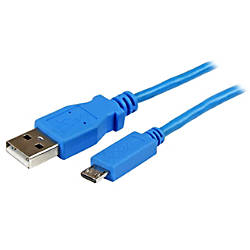 StarTechcom 1m Blue Mobile Charge Sync