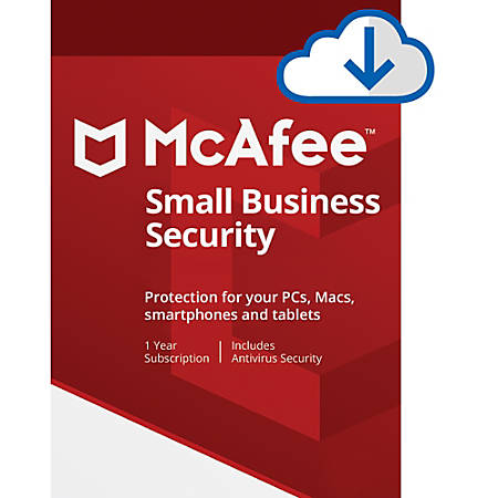 McAfee® Small Business Security, 5 Devices, 1 Year Subscriptions, Download