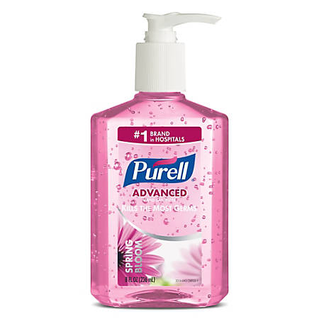 purell instant hand sanitizer 8 oz pink spring bloom by office