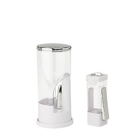 Honey-Can-Do Coffee And Sugar Dispenser Set, White/Chrome