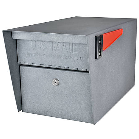 "Mail Boss Mail Manager Locking Security Mailbox, 11-1/4""H x 10-3/4""W x 21""D, Granite"