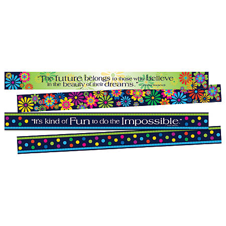 "Barker Creek Double-Sided Border Strips, 3"" x 35"", Italy, Set Of 24"