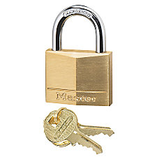 Master Lock Solid Brass Padlock Keyed