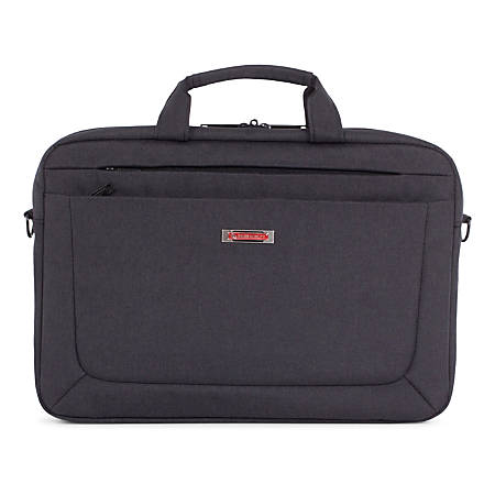 "Swiss Mobility Cadence Slim Briefcase With 15.6"" Laptop Pocket, Charcoal"