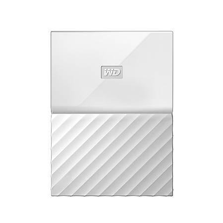 WD My Passport™ 2TB Portable External Hard Drive, USB 2.0/3.0, WDBYFT0020BWT-WESN, White
