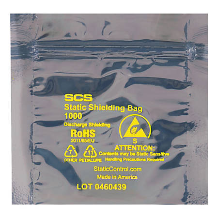 "Office Depot® Brand Reclosable Static Shielding Bags, 4"" x 4"", Transparent, Case Of 500"