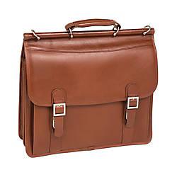 McKlein Halsted Leather Briefcase Brown