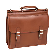 McKlein Halsted Leather Briefcase Brown
