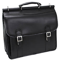 McKlein Halsted Leather Briefcase Black