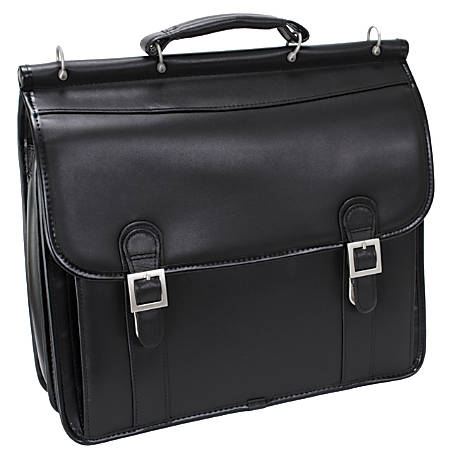 McKlein Halsted Leather Briefcase, Black