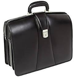 McKlein Harrison Leather Briefcase Black