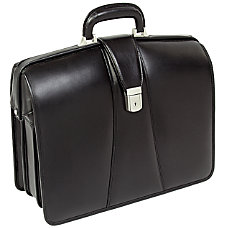 McKlein Harrison Leather Briefcase Black