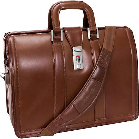 McKlein Morgan Leather Briefcase, Brown