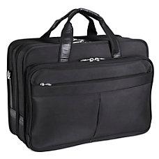 McKlein Walton Nylon Expandable Briefcase Black